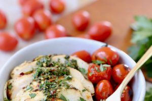 Gluten Free, Dairy Free, Whole 30 Chimichurri Chicken Zoodle Bowls