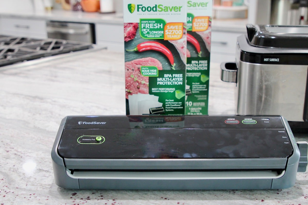 Vacuum Sealer for Sous Vide with Sous Vide Bags from FoodSaver