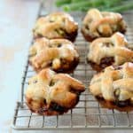 Spinach Feta Mini Pies with Braided Puff Pastry Crust