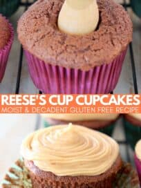 chocolate cupcakes filled with peanut butter