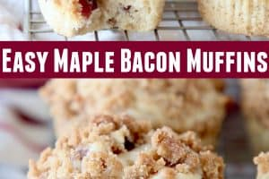 Maple Bacon Muffins sitting on wire rack
