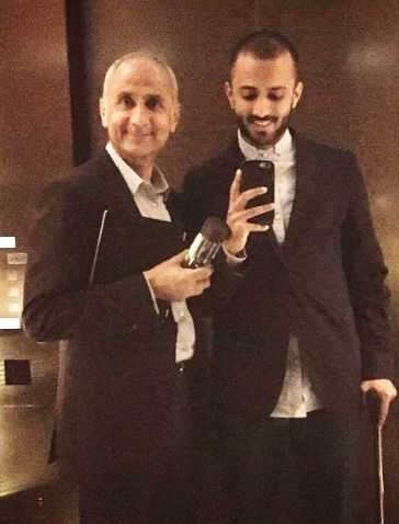 This image has an empty alt attribute; its file name is Anand-Ahuja-with-his-father.jpg