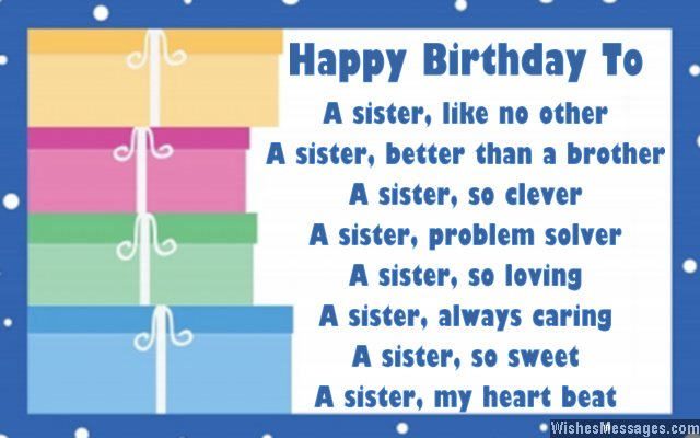 Birthday Poems For Sister 7