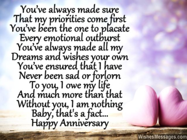 Happy Anniversary Poems For Her 6