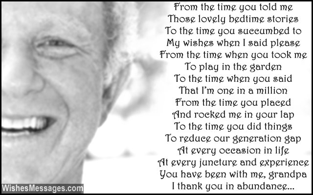 Birthday Poems For Grandpa Wishesmessages Com