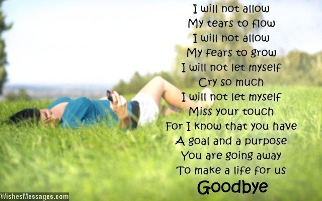 Poems About Saying Good Bye 5