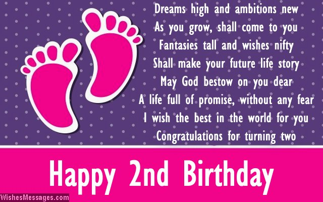 Second Birthday Poems Happy 2nd Birthday Poems Wishesmessages Com
