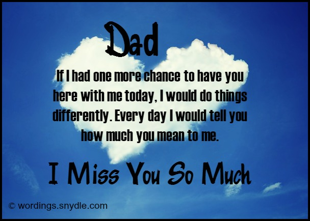 I Miss You Daddy Poems 7