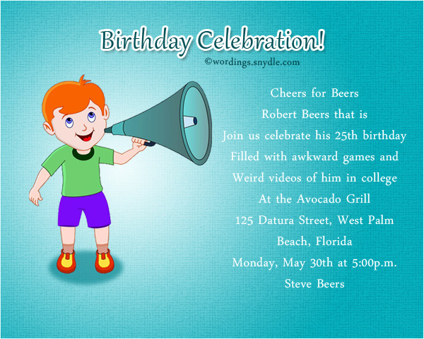 Funny Birthday Party Invitation Wording Wordings And Messages