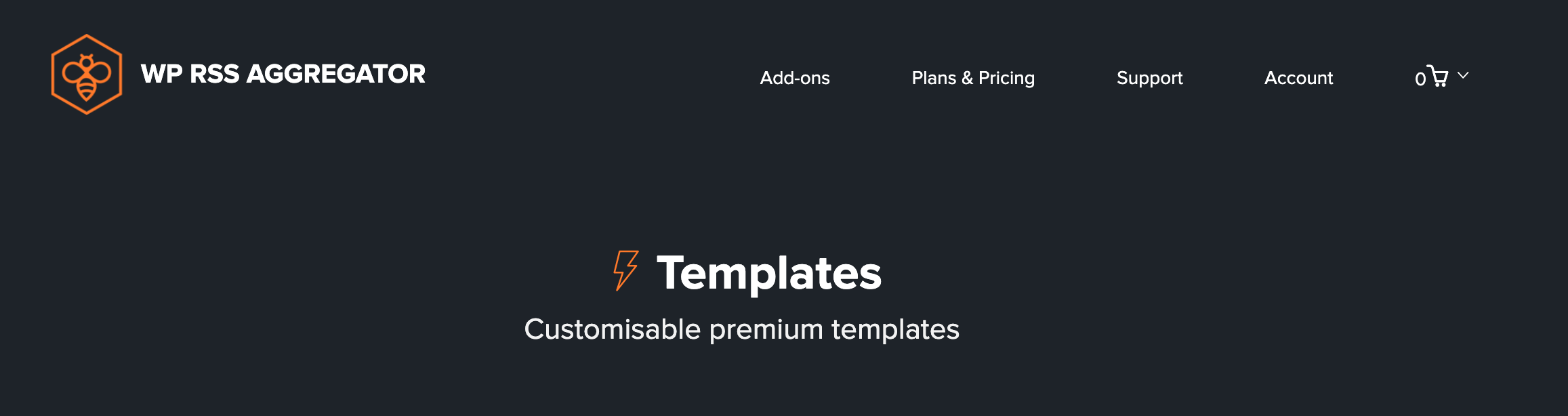 The WP RSS Aggregator plugin Templates add-on.