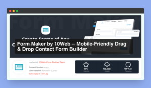 Form Maker the Best Contact Form Plugin For WordPress - WPSpice