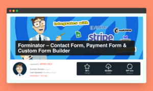 Forminator Best Contact Form for WordPress WP spice