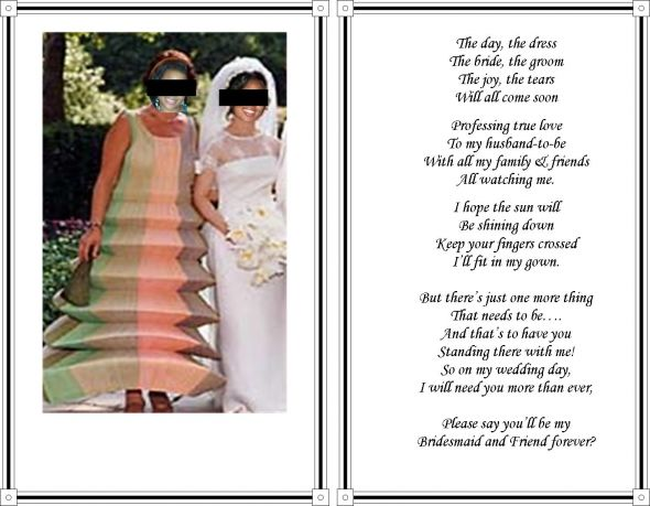 Will You Be My Bridesmaid Poems 2