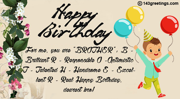 Birthday Caption For Brother 6