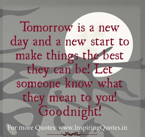 Good Night Motivational Quotes 1