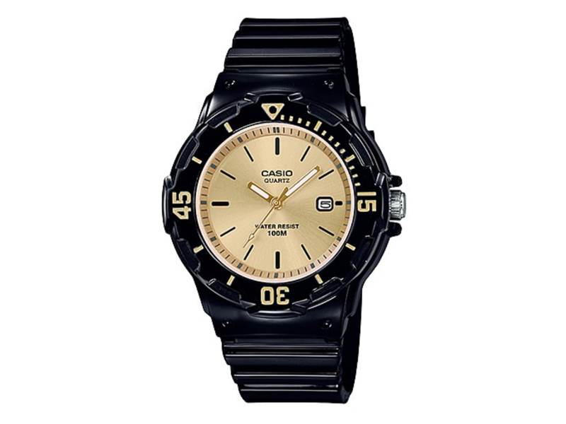black and gold casio ladies watch