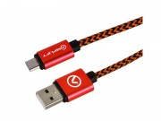 Amplify-Pro-Linked-Micro-Usb-Cable-2M-Black-Red-(AMP-20003-BKRD)