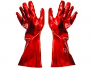 Fragram Gloves PVC Red 35cm (TOOG726A)