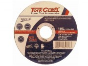 Tork Craft Cutting disc Multi Purpose 115 x 1.0 x 22.2mm for Steel SS PVA Stone (ABR115SM)
