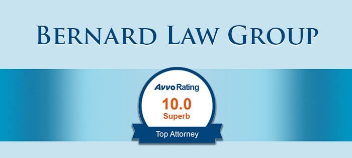 Bernard Law Group Avvo Rating Top Attorney for Personal Injury