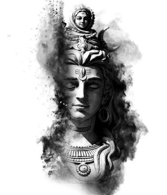High Resolution Lord Shiva Black And White Hd Wallpaper