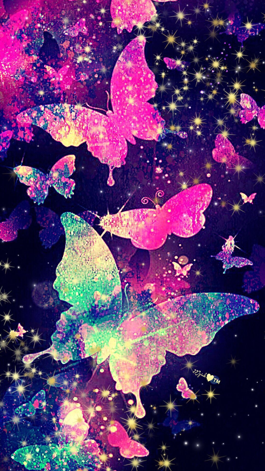 Iphone Aesthetic Butterfly Wallpaper Pink