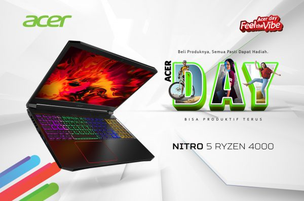Nitro 5 Ryzen 4000 (AN515-44), Laptop Gaming dengan Prosesor AMD Ryzen 4000 Series