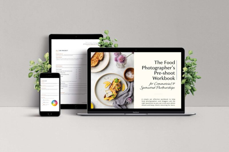 Food Photographer's Pre-Shoot Workbook