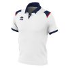 Errea Luis Polo Shirt White Navy Red