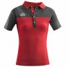 Acerbis Belatrix Womens Polo Shirt Red Grey