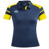 Acerbis Kemari Womens Polo Shirt Navy Yellow
