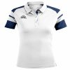 Acerbis Kemari Womens Polo Shirt White Navy
