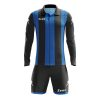 Zeus Pitagora Football Kit Black Blue