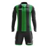 Zeus Pitagora Football Kit Black Green