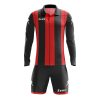 Zeus Pitagora Football Kit Black Red
