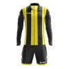 Zeus Pitagora Football Kit Black Yellow