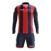 Zeus Pitagora Football Kit Navy Red