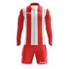 Zeus Pitagora Football Kit Red White