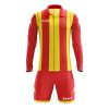 Zeus Pitagora Football Kit Red Yellow