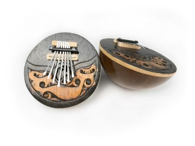 The kalimba (thumb piano) is a westernized version of a traditional plucked instrument from Zimbabwe called an mbira.