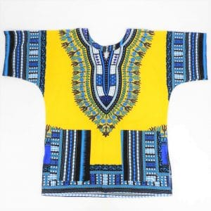 Dashiki, vibrant African threads direct from Ghana, West Africa. Loose fit, great for both casual wear and performance.