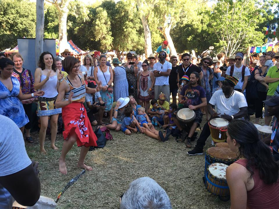 African Drumming at Womad Festival