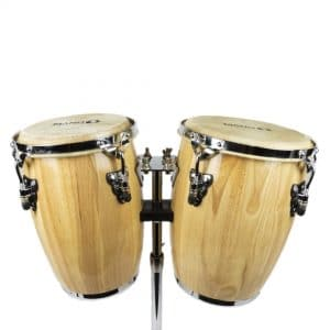 Mano mini congas in natural finish