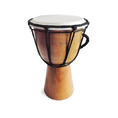 Hand carved from solid, sustainably-sourced mahogany. Your drum comes with a free African Drumming Drum Care and Tuning Guide.
