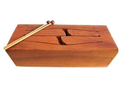 tongue drum wood log box