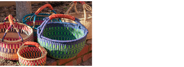 Bashiri - West African Bolga Baskets, Masks, Statues, Artefacts, Bags, Textiles, Jewellery, Art, Stools and Paintings - every piece is hand crafted and original