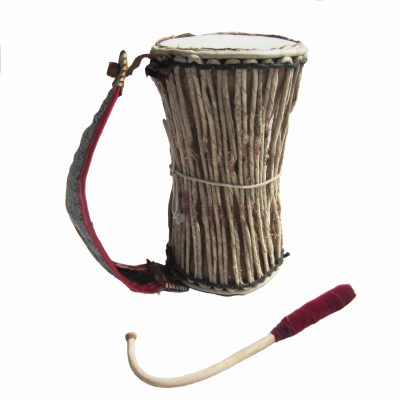 medium Yoruba Gangan talking drum from Nigeria