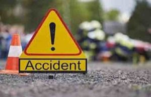 Car and two-wheeler accident in Sangamner