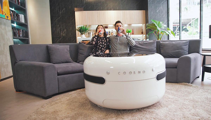 The Coosno Is A Smart Coffee Table With A Built In Fridge