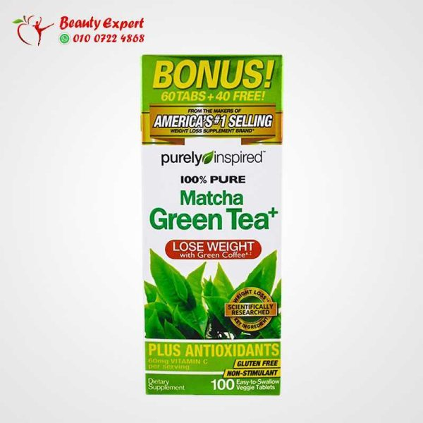 Pure Matcha Green Tea+, Purely Inspired, 100 Tablets